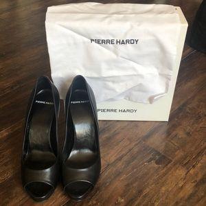 Pierre Hardy peep toe black heels